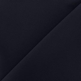 Tissu jersey côte de cheval - marine x 10cm