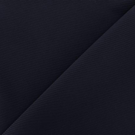 Côte de cheval fabric - navy x 10cm