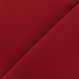 Tissu jersey côte de cheval - bordeaux x 10cm