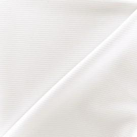 Tissu jersey côte de cheval - écru x 10cm