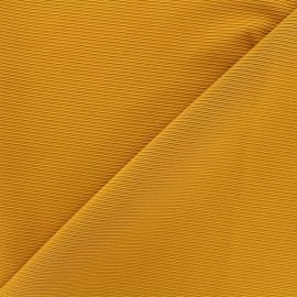 Tissu jersey côte de cheval - ocre x 10cm