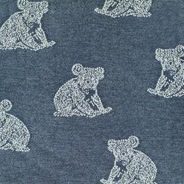 Jersey jacquard fabric Koala - denim x 17cm