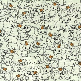 Poppy Oeko-Tex Jersey fabric King elephant - grey x 10cm