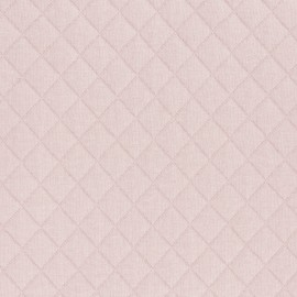 ♥ Coupon 20 cm X 120 cm ♥ Tissu jersey matelassé France duval - nude