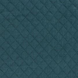 Tissu jersey matelassé France duval - vert sapin x 10cm