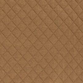 Tissu jersey matelassé France duval - caramel x 10cm