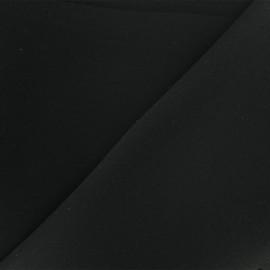 Tissu Néoprène Scuba réversible uni - noir x 10cm