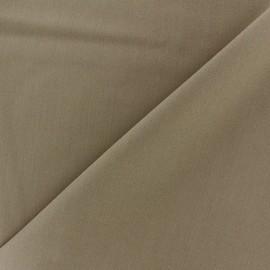 ♥ Coupon 90 cm X 140 cm ♥ Tissu Gabardine Lycra légère - havane