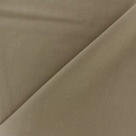 ♥ Only one piece 90 cm X 140 cm ♥  Light Lycra Gabardine Fabric - havane