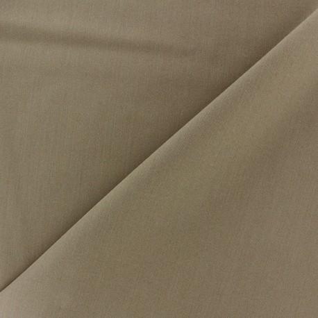 Light Lycra Gabardine Fabric - havane x 10cm
