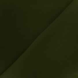 Reversible plain neoprene fabric Scuba - dark green x 10cm