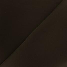 ♥ Coupon 110 cm X 150 cm ♥   Reversible plain neoprene fabric Scuba - dark brown