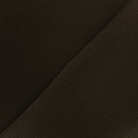 Reversible plain neoprene fabric Scuba - dark brown x 10cm