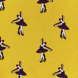 Tissu Crêpe Chemisier Danseuse - moutarde x 10cm