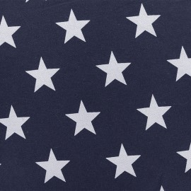 ♥ Only one piece 150 cm X 140 cm ♥ Jersey jeans aspect fabric Stars - night blue