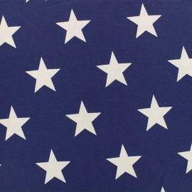 ♥ Coupon 200 cm X 140 cm ♥ Tissu Jeans élasthanne Stars - bleu denim