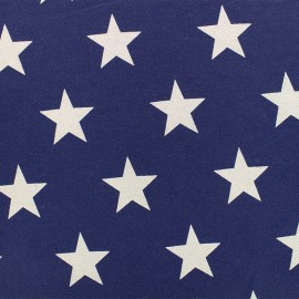 ♥ Only one piece 200 cm X 140 cm ♥ Elastic jeans fabric Stars - denim