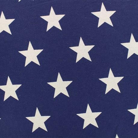 Elastic jeans fabric Stars - denim x 10cm