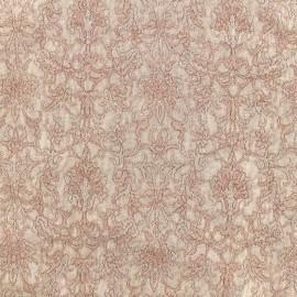 Tissu Doublure Jacquard Royal - vieux rose x 10cm