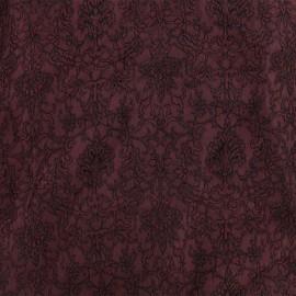 Tissu Doublure Jacquard Royal - lie de vin x 10cm