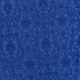 ♥ Coupon 40 cm X 140 cm ♥  Royal damask fabric - royal blue