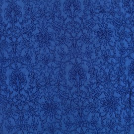 Royal damask fabric - royal blue x 10cm