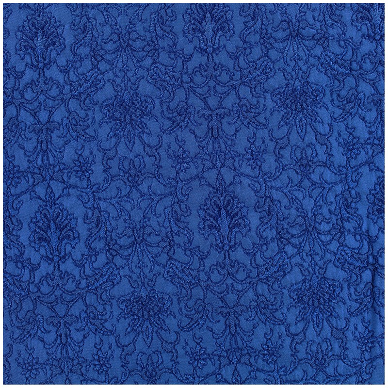Royal Damask Fabric Royal Blue X 10cm Ma Petite Mercerie