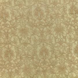 Tissu Doublure Jacquard Royal - or clair x 10cm