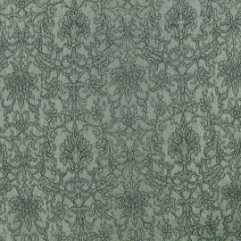 Tissu Doublure Jacquard Royal - vert de gris x 10cm
