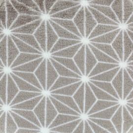 Tissu Doudou Scandinavie - gris x 10cm