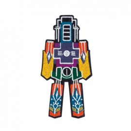 Crazy Space iron on patch - robot