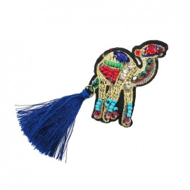 Joli ornement iron on patch - camel