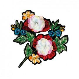Joli ornement iron on patch - bouquet