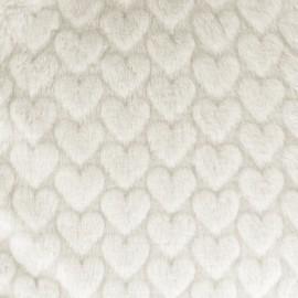Fourrure Love - écru x 10cm