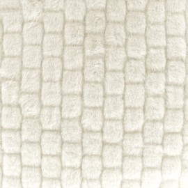 Imitation fur Graphic - ecru x 10cm