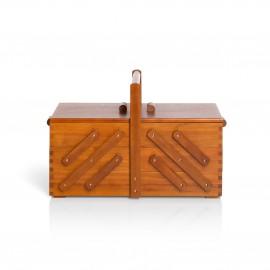 Travailleuse en bois foncé Prym - L