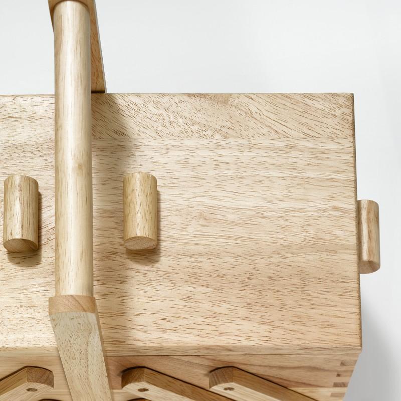 Travailleuse en bois clair prym s ma petite mercerie for Travailleuse couture bois