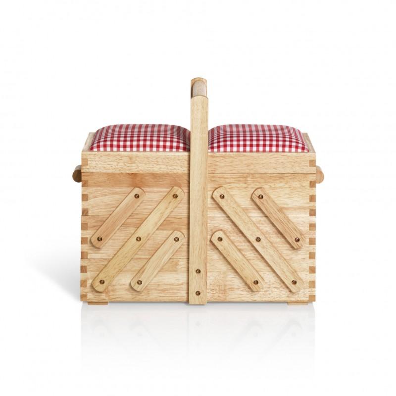travailleuse en bois clair avec tissu prym m ma petite mercerie. Black Bedroom Furniture Sets. Home Design Ideas