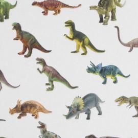 Cotton canvas digital printing - Toy Dino x 64cm