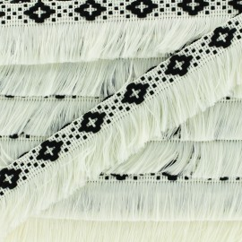 Bohemia fringe trimming ribbon 30mm - white x1m