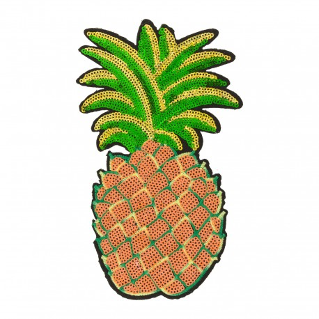 Tropical fruits iron on patch - pineapple