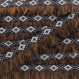 Bohemia fringe trimming ribbon 30mm - light brown x1m