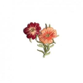 Thermocollant brodé Infusion florale - pensée