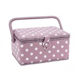 Sewing box Dots size M - lilac