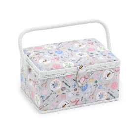 Sewing box Homemade size M - grey