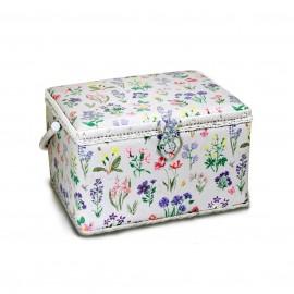 Boîte à couture Spring garden taille XL - gris bleu