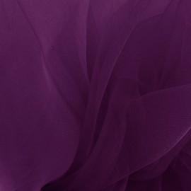 Tissu Organza - prune x 50cm