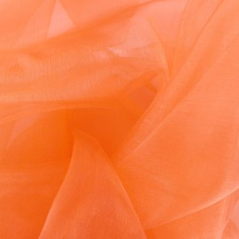 Organza Fabric - light orange x 50cm