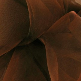 Organza Fabric - light rust x 50cm
