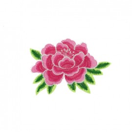 Old School Flower iron on patch  - rose G